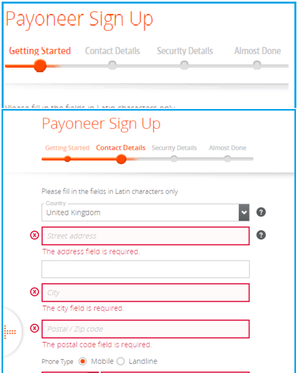 payoneer-fill-form