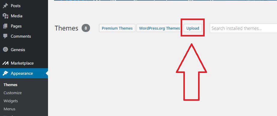 upload-wordpress-theme