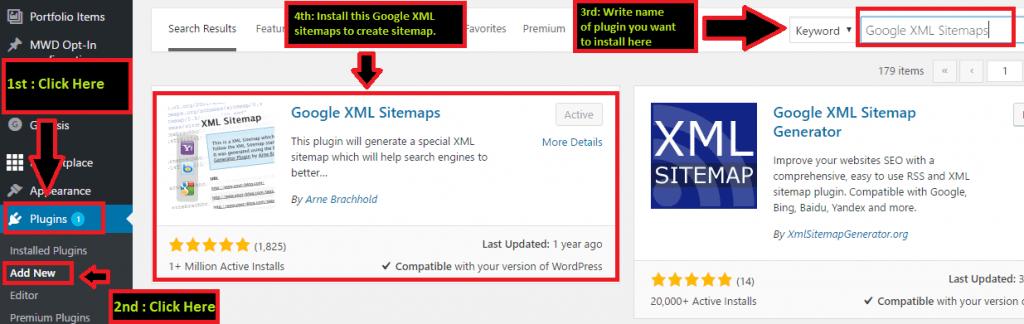 How to create Google XML sitemap