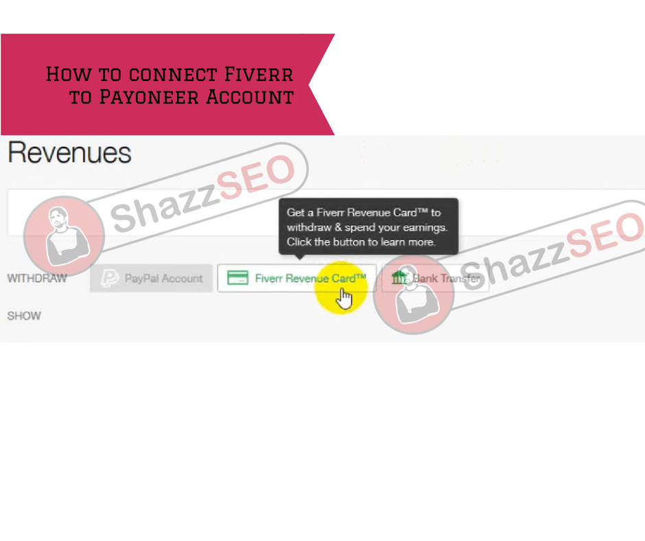 connect your Fiverr account to Payoneer