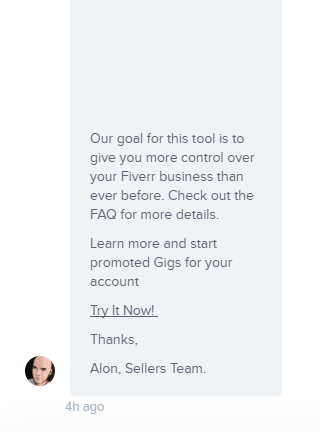 Fiverr Promoted Gigs