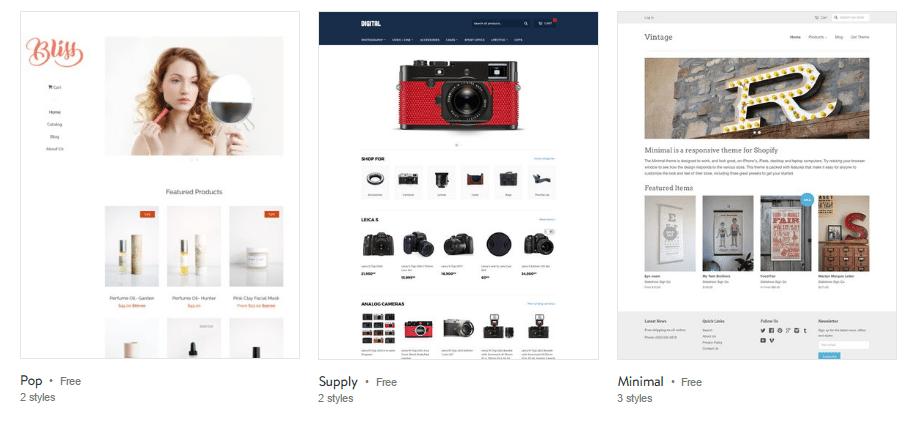 Shopify Free Themes