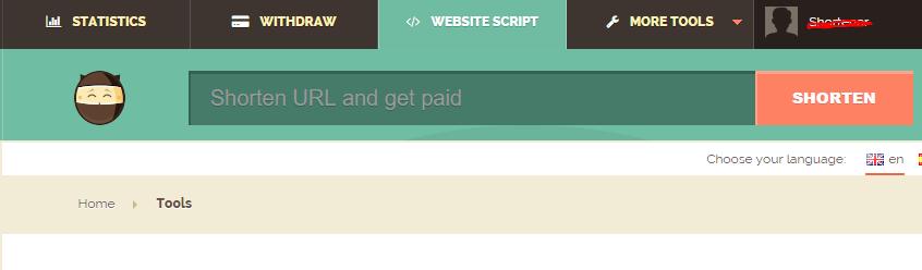Earn by Shorten URL