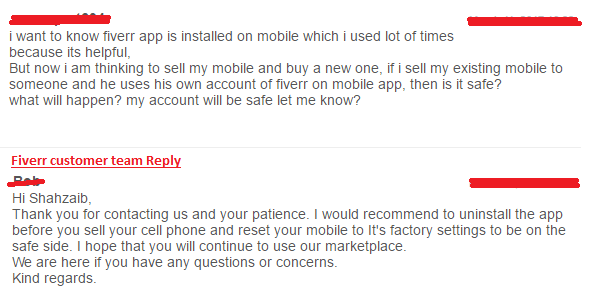 Fiverr about selling Cellphone