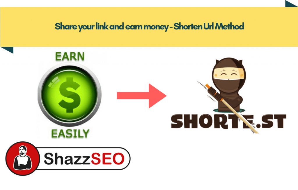 Share your link and earn money - Shorten Url Method