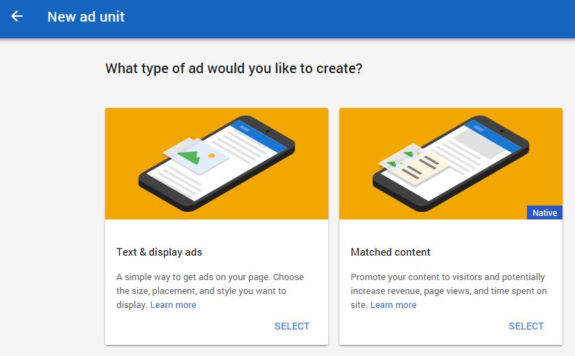 Google adsense ad unit
