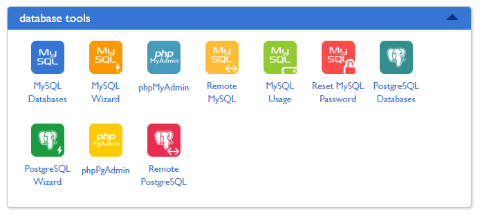 phpMyAdmin in control panel