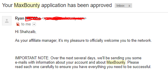Max bounty Account Approval