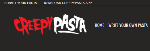 CreepyPasta Creepy Website