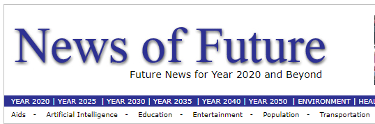 News of the future Weird web