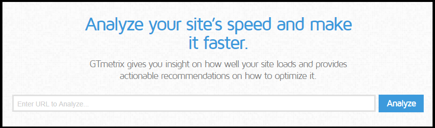 GTmetrix check web speed