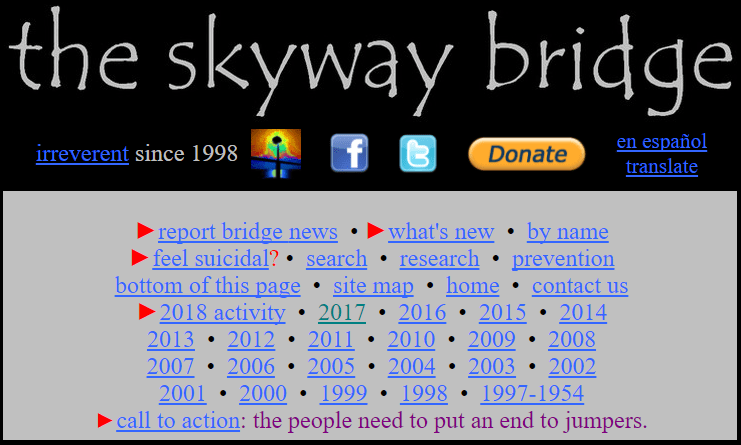 The sky bridge website