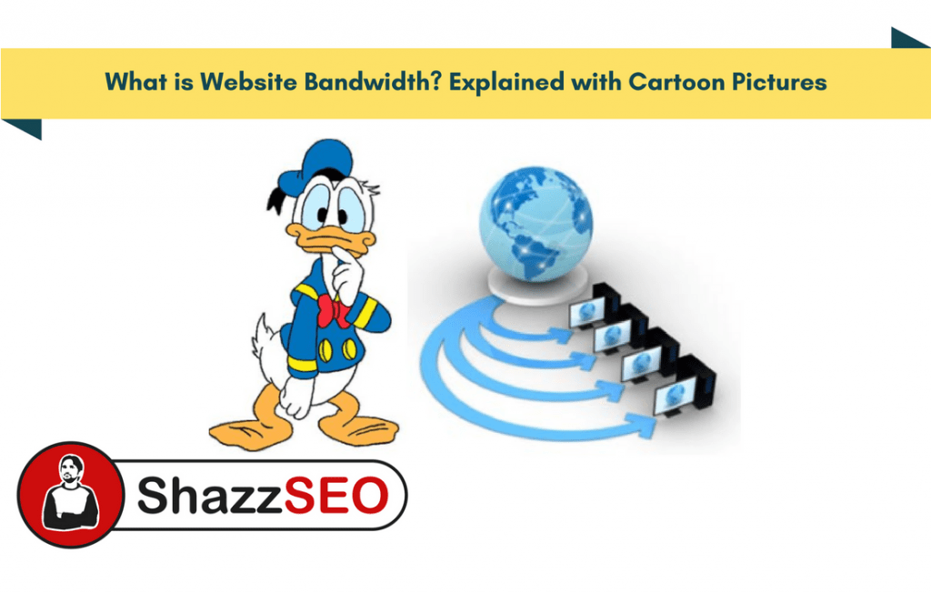 What is Website Bandwidth Explained with Cartoon Pictures