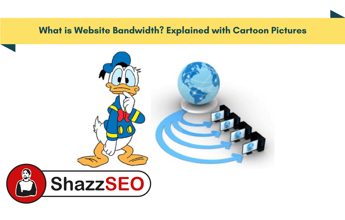 What is Website Bandwidth? Explained with Cartoon Pictures