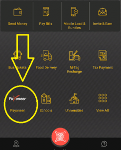 Payoneer icon on Jazzcash App