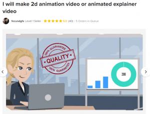 2D animation service details