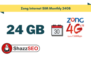 Zong Internet SIM Monthly 24GB