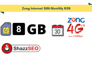 Zong Internet SIM Monthly 8GB