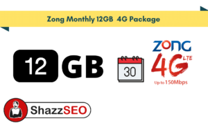 Zong Monthly 12GB 4G Package