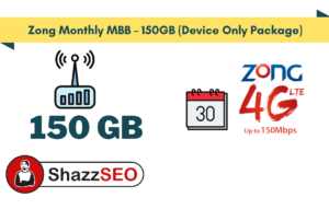 Zong Monthly MBB – 150GB (Device Only Package)