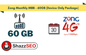 Zong Monthly MBB – 60GB (Device Only Package)