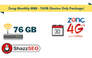 Zong Monthly MBB – 76GB (Device Only Package)