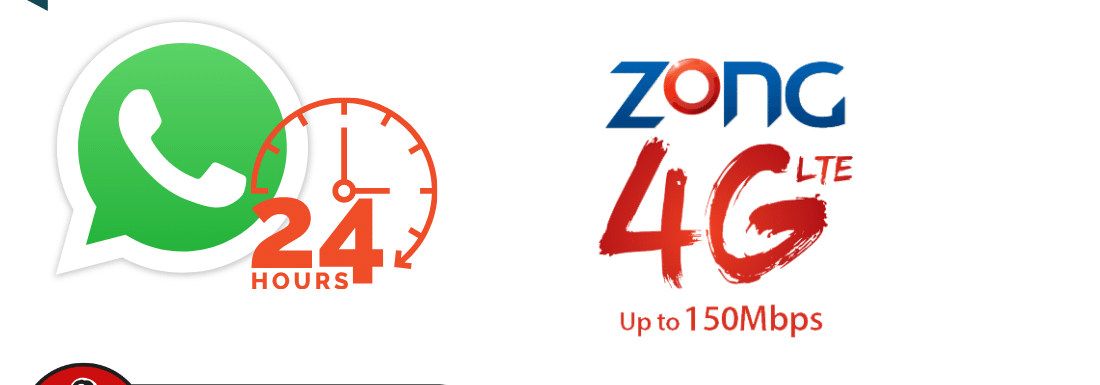Zong Whatsapp Only Daily 3G / 4G Package 2021 – Get 150MB